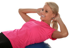 Pretty Exercise Girl Royalty Free Stock Photography