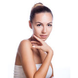 Pretty face of beautiful smiling woman Royalty Free Stock Photo