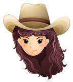 A pretty face of a cowgirl Royalty Free Stock Photography