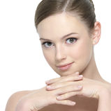 Pretty  face of young woman Royalty Free Stock Photos