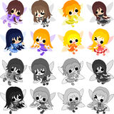 The pretty fairies Stock Images