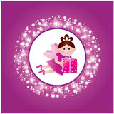 Pretty fairy with a gift. Stock Photo