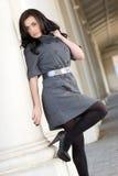 Pretty Fall Fashion Girl Stock Photo