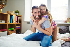 Pretty family capturing moment in photograph Stock Photos