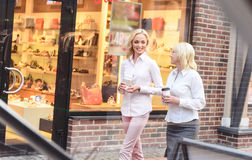 Pretty family going shopping together royalty free stock photography