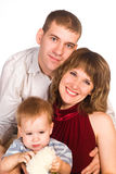Pretty family portrait Royalty Free Stock Photo
