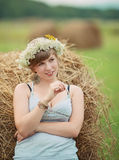 Pretty farm lady Royalty Free Stock Image