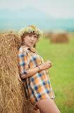 Pretty farm lady Royalty Free Stock Photography