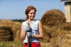 Pretty farmer Royalty Free Stock Photo