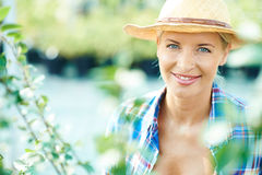 Pretty farmer Royalty Free Stock Photography