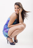 Pretty fashion woman. Attractive young woman posing in a fashion shooting Stock Images