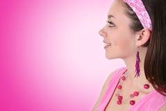 Pretty Fashionable Woman Stock Photography