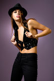 Pretty fashionable young woman Royalty Free Stock Image