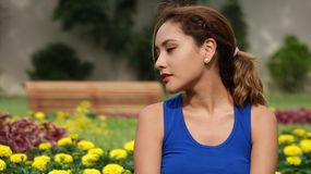 Pretty Female With Broken Heart. A young pretty Peruvian woman Royalty Free Stock Photos