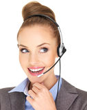 Pretty female businesswoman talking Stock Images