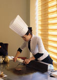 Pretty female chef Stock Photos