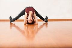 Pretty female dancer having some fun Stock Image
