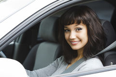 Pretty female driver Royalty Free Stock Photography
