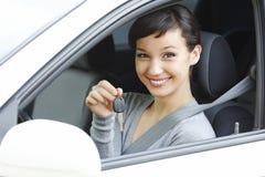 Pretty female driver Stock Photos