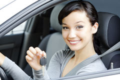 Pretty female driver Royalty Free Stock Photo