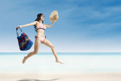 Pretty female enjoying a summer holiday Royalty Free Stock Images