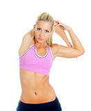 Pretty female fitness trainer Royalty Free Stock Photo
