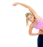 Pretty female fitness trainer Royalty Free Stock Photography
