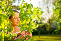 Pretty female gardener Stock Photos
