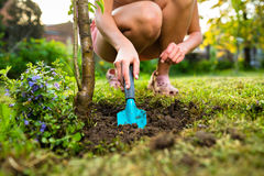 Pretty female gardener Royalty Free Stock Image