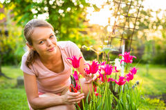 Pretty female gardener Royalty Free Stock Photography