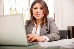 Pretty female lawyer at work Royalty Free Stock Photography