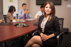 Pretty female lawyer at work Royalty Free Stock Images