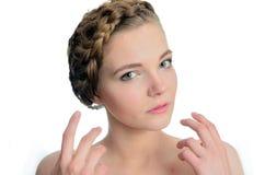 Pretty female model Royalty Free Stock Photos
