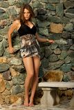 Pretty female model posing. Stock Images
