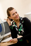 Pretty female office manager at workplace Royalty Free Stock Photos