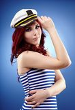 Pretty female sailor in closeup Royalty Free Stock Photo