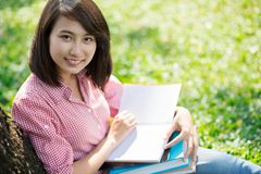 Pretty female student Stock Images