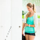 Pretty, female student with books Stock Photography