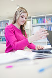 Pretty, female student with laptop Royalty Free Stock Image