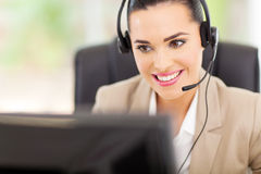 Support center operator Stock Image
