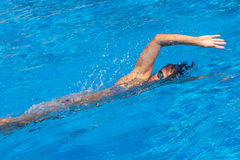Pretty female swimmer Royalty Free Stock Images