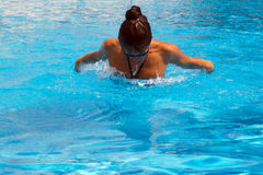 Pretty female swimmer Royalty Free Stock Photography