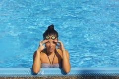 Pretty female swimmer Stock Image