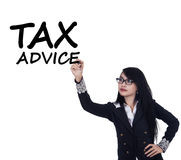 Pretty female tax consultant Royalty Free Stock Images