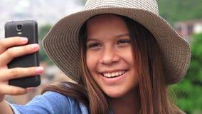Pretty Female Teen Taking Selfy Royalty Free Stock Photo