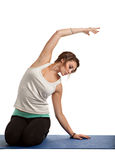 Pretty Female Teenager Practicing Yoga Royalty Free Stock Photo