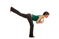 Pretty Female Teenager Practicing Yoga Royalty Free Stock Photos