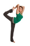 Pretty Female Teenager Practicing Yoga Royalty Free Stock Photography