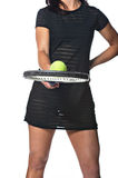 Pretty female tennis player Royalty Free Stock Images