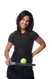 Pretty female tennis player Royalty Free Stock Photos